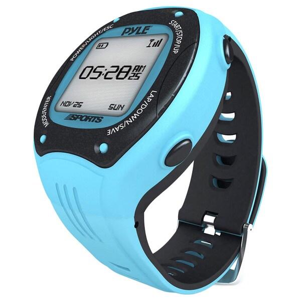 Pyle Sports Digital LED ANT+ E-compass GPS Navigation Blue Sports Training Watch