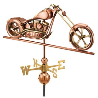 Good Directions Polished Copper Chopper Weathervane