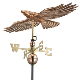 Good Directions Polished Copper Soaring Hawk Weathervane