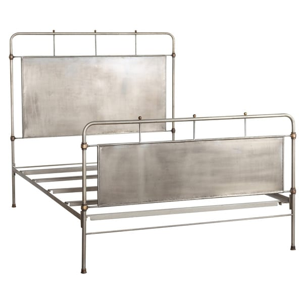 Chelsea Brushed Steel Queen-size Bed (India)