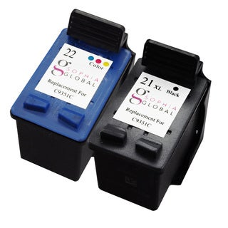 Sophia Global Remanufactured Ink Cartridge Replacement for HP 21XL 22 (1 Black, 1 Color)