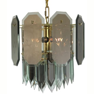 7-light Reflex Panels/ Spears Polished Brass Chandelier