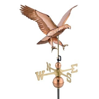 Good Directions Polished Copper Attack Eagle Weathervane