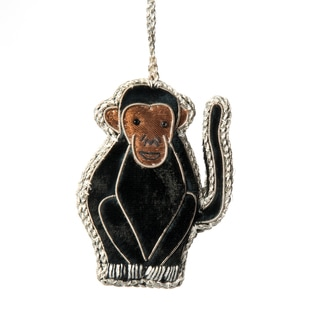 Handcrafted Zardosi Monkey Ornament (India)