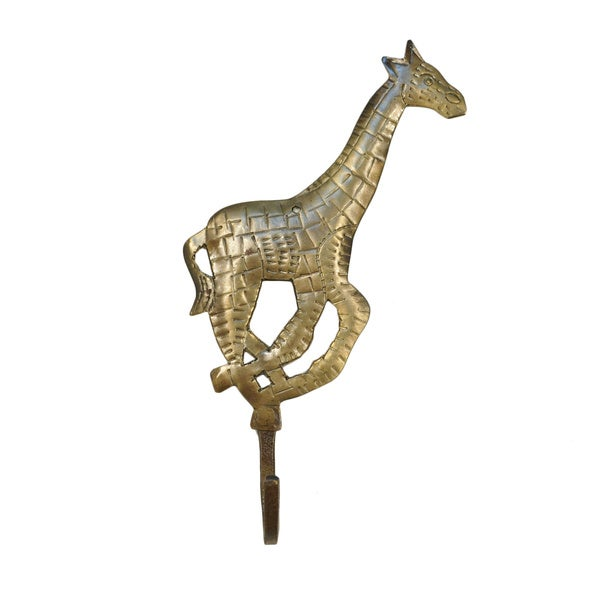 Handmade Safari Giraffe Hook (India) 12590091