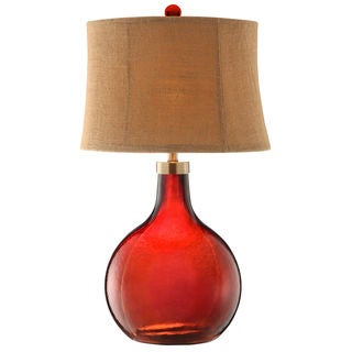 Stafford Red Glass Table Lamp