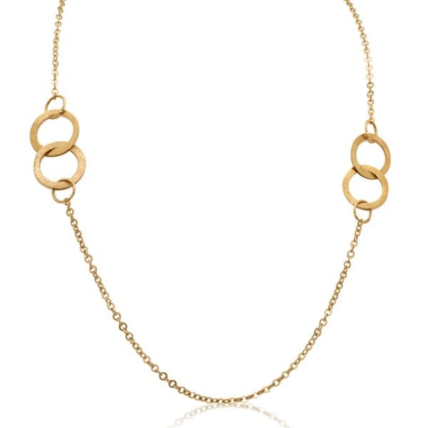 Gioelli 14k Yellow Gold Loop Link Necklace