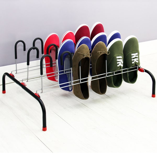 Samsonite Black/ Red Trim 9-pair Shoe Rack