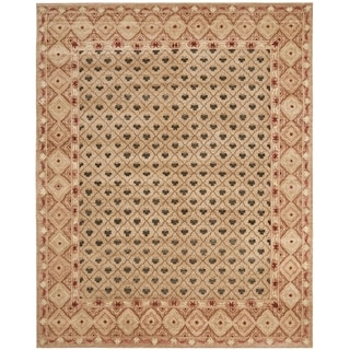 Safavieh Hand-knotted Marrakech Beige/ Red Wool Rug (10' x 14')