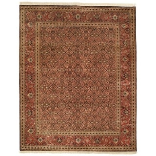 Safavieh Hand-knotted Herati Brown/ Rust Wool Rug (9' x 12')