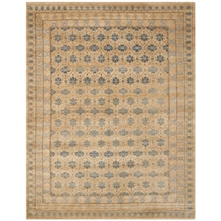 Safavieh Hand-knotted Marrakech Beige/ Light Blue Wool Rug (10' x 14')