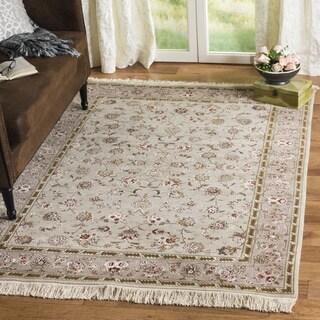 Safavieh Hand-knotted Tabriz Floral Beige Wool/ Silk Rug (9' x 12')