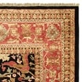 Safavieh Hand-knotted Peshawar Vegetable Dye Black/ Red Wool Rug (8' x 10')