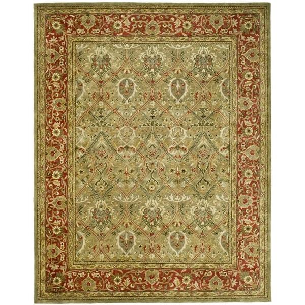 Safavieh Pl537a Persian Legend Wool Hand Tufted Rust Navy: Safavieh Handmade Persian Legend Light Green/ Rust New