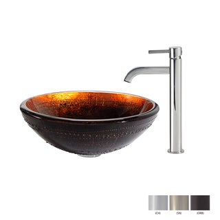 Kraus Prometheus Glass Vessel Sink and Ramus Faucet