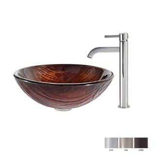 Kraus Titania Glass Vessel Sink and Ramus Faucet