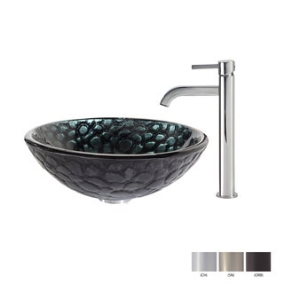 Kraus Kratos Glass Vessel Sink and Ramus Faucet