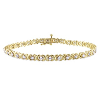 Miadora 10k Yellow Gold 1ct TDW Diamond Bracelet (I-J, I2-I3)