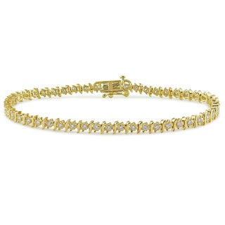Miadora 14k Yellow Gold 1/2ct TDW Diamond Bracelet (G-H, I1-I2)