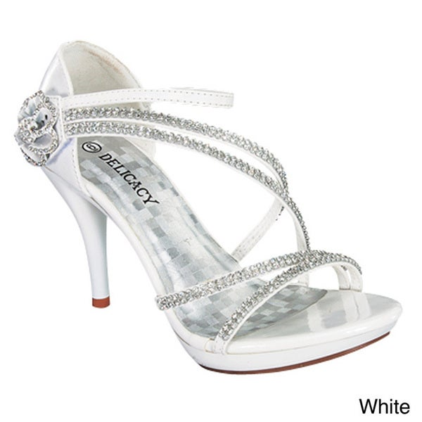 Delicacy Women's 'Essential-28' Rhinestone Embellished Low-heel Sandals