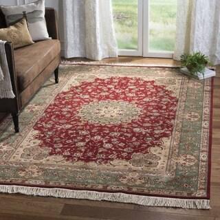 Safavieh Hand-knotted Tabriz Floral Multi Wool/ Silk Rug (10' x 14')