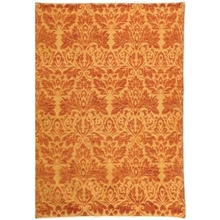 Safavieh Hand-knotted Santa Fe Wicker/ Rust Wool Rug (9' x 12')