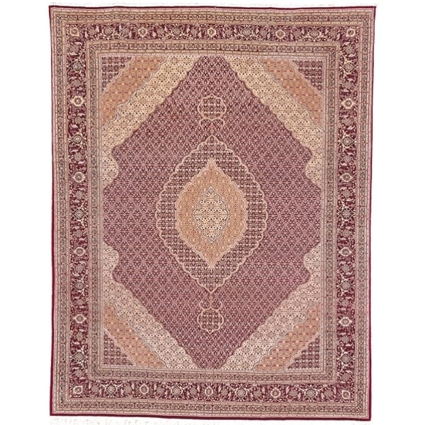 Safavieh Hand-knotted Tabriz Herati Red/ Red Wool/ Silk Rug (10' x 14')