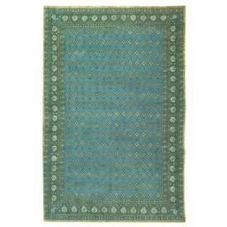 Safavieh Hand-knotted Suzanne Kasler Aqua Wool/ Silk Rug (9' x 12')