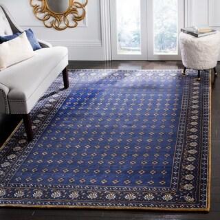 Safavieh Hand-knotted Suzanne Kasler Indigo Wool/ Silk Rug (9' x 12')