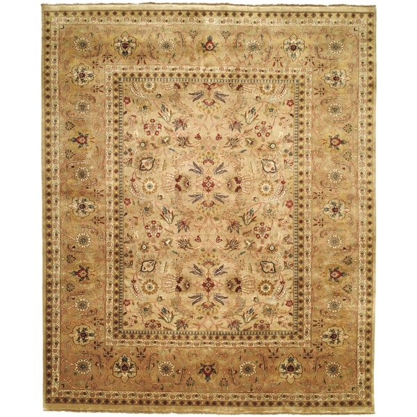 Pasargad Ny Persian Hand Knotted Wool Light Blue Ivory: Safavieh Hand-knotted Farahan Sarouk Ivory/ Gold Wool Rug