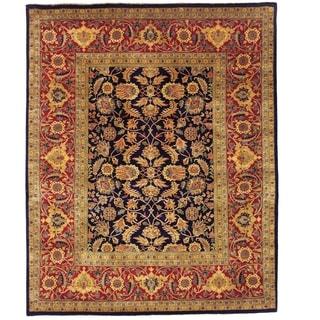 Safavieh Hand-knotted Farahan Sarouk Navy/ Rust Wool Rug (9' x 12')