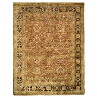 Safavieh Hand-knotted Ganges River Medium Brown/ Dark Brown Wool Rug (6' x 9')