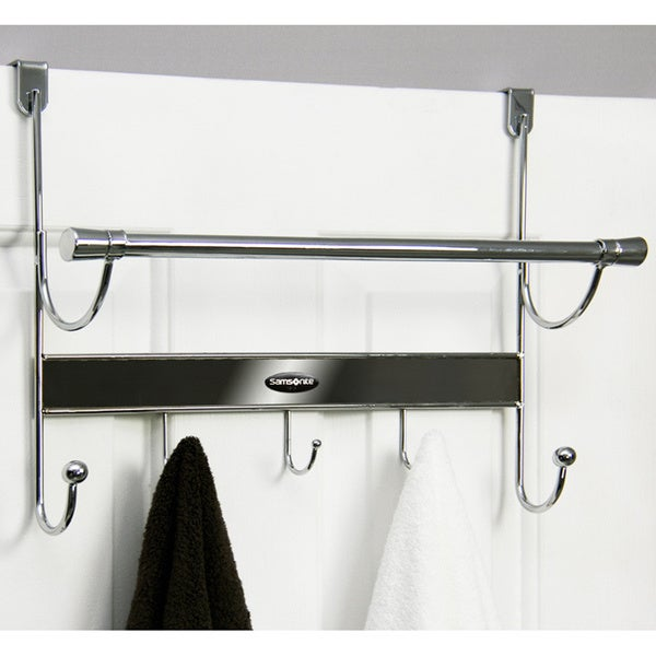 Samsonite Chrome Onyx 5 Hook Over The Door Hanger And