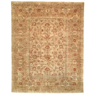 Safavieh Hand-knotted Farahan Sarouk Ivory/ Gold Wool Rug (6' x 9')