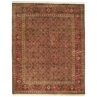 Safavieh Hand-knotted Herati Brown/ Rust Wool Rug (6' x 9')