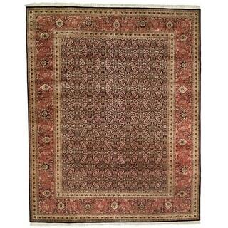 Safavieh Hand-knotted Herati Navy/ Rust Wool Rug (6' x 9')