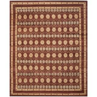Safavieh Hand-knotted Marrakech Brown/ Light Blue Wool Rug (6' x 9')