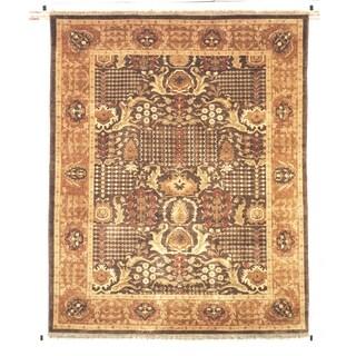 Safavieh Hand-knotted Peshawar Vegetable Dye Walnut/ Gold Wool Rug (6' x 9')
