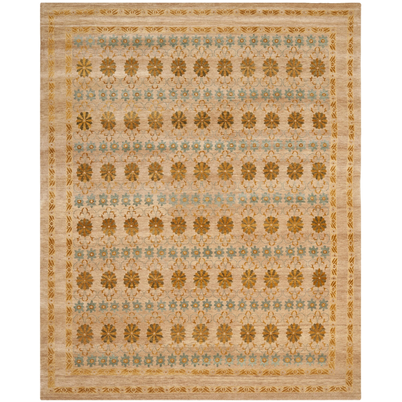 Safavieh Hand-knotted Marrakech Gold/ Light Blue Wool Rug (6' x 9')