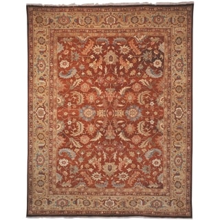 Safavieh Hand-knotted Samarkand Rust/ Light Gold Wool Rug (6' x 9')