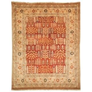 Safavieh Hand-knotted Samarkand Rust/ Camel Wool Rug (6' x 9')