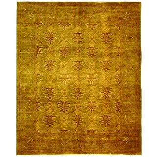 Safavieh Hand-knotted Peshawar Vegetable Dye Olive/ Olive Wool Rug (6' x 9')