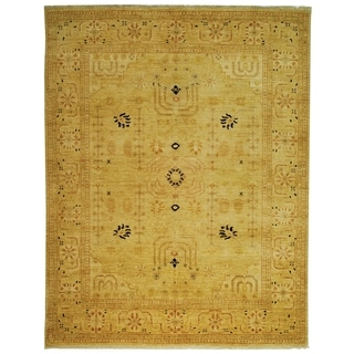 Safavieh Hand-knotted Peshawar Vegetable Dye Ivory/ Ivory Wool Rug (5' x 7')