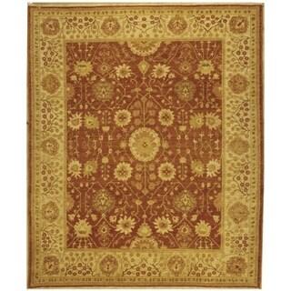 Safavieh Hand-knotted Peshawar Vegetable Dye Rust/ Lemon Wool Rug (6' x 9')