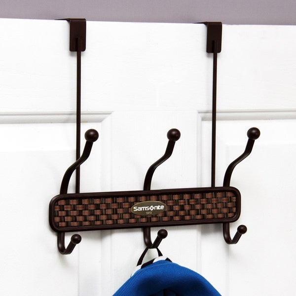 Samsonite ORB Bronze Basket Weave 6-hook Over The Door Hanger