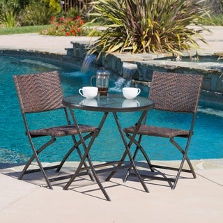 El Paso Outdoor 3-piece Multi-brown Folding Set by Christopher Knight Home