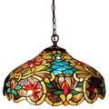 Tiffany Style Victorian Design 2-light Bronze Pendant