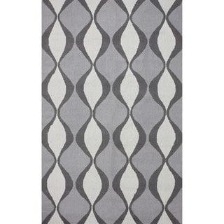 nuLOOM Hand-hooked Indoor/ Outdoor Trellis Grey Rug (7' 6 x 9' 6)