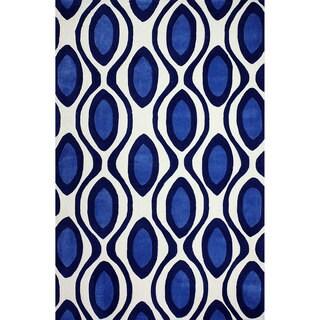 nuLOOM Handmade Moroccan Trellis Dark Blue Rug (7'6 x 9'6)