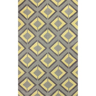 nuLOOM Hand-tufted Lucile Trellis Yellow Rug (5' x 8')